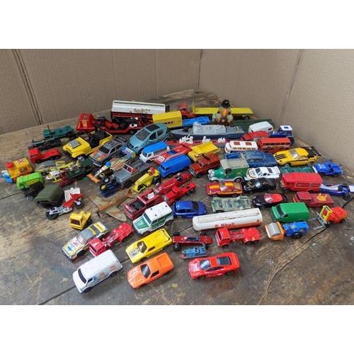 58 - Box of vintage diecast - dinky, corgi, matchbox...