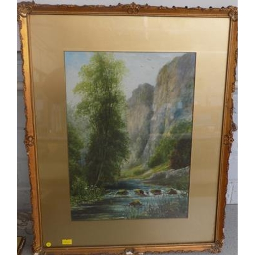 11 - Original watercolour signed by artist John Thorley, 1919 - woodland scene...