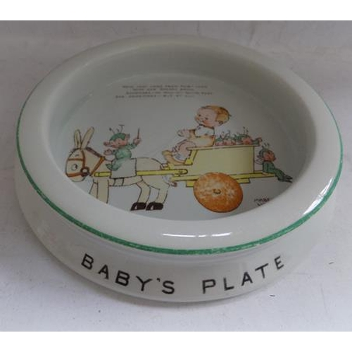 37 - Vintage 1930's Shelley-Mabel Lucie Attwell baby's plate...