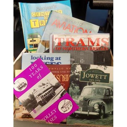 51 - Box of transportation books...