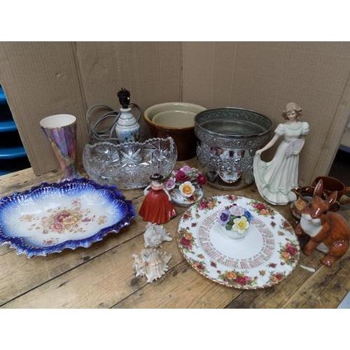57 - Box of collectables incl. Royal Doulton, Royal Albert...