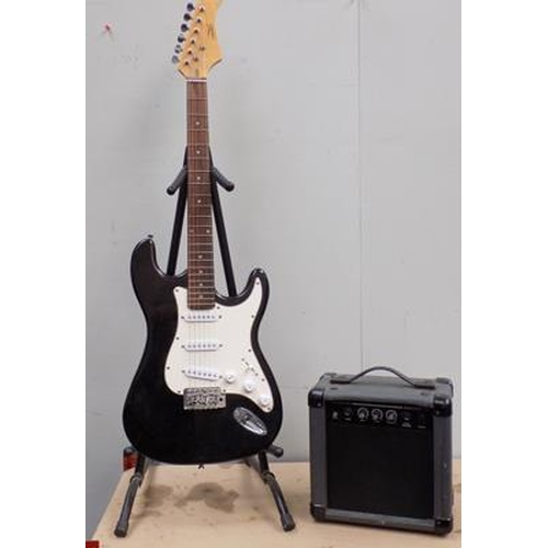 1 - Electric guitar CB Sky with amp...