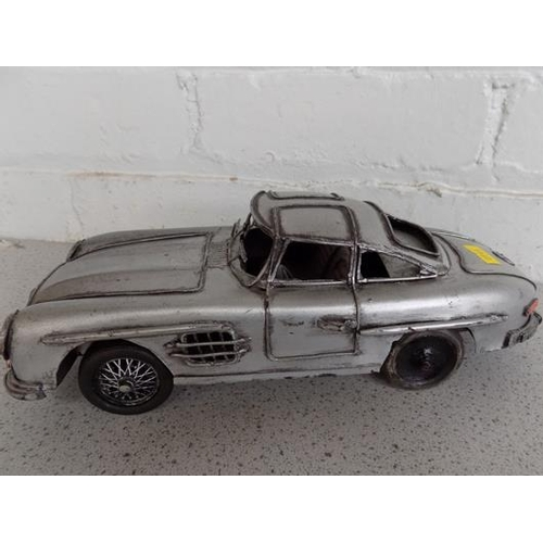 21 - Large vintage tinplate 1950's Mercedes Coupe...