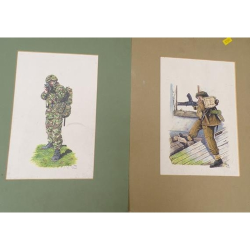 48 - 2 x army signed prints...