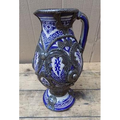 14 - Italian vase-pottery & metalware...