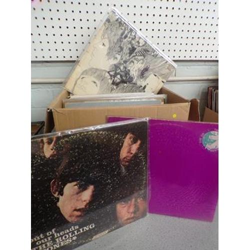 51 - Box of records incl. Beatles, Stones, Who, Lou Reed, Clapton, Santana etc....