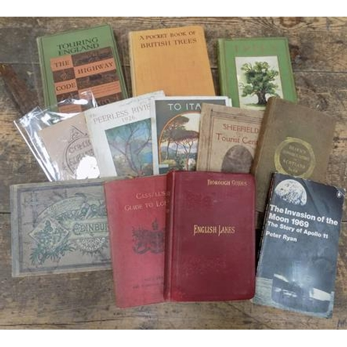 54 - 12x Collectable books inc 1969 1st edition moon landing & early travel books...