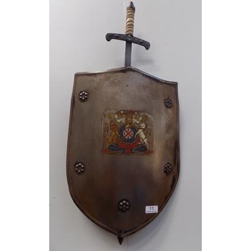 11 - Decorative shield and sword...