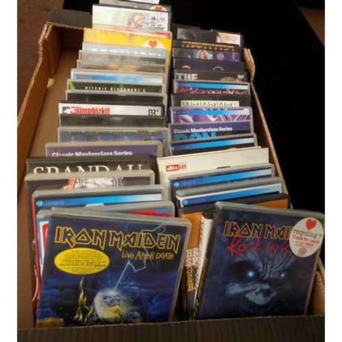 48 - Box of rock music DVDs...