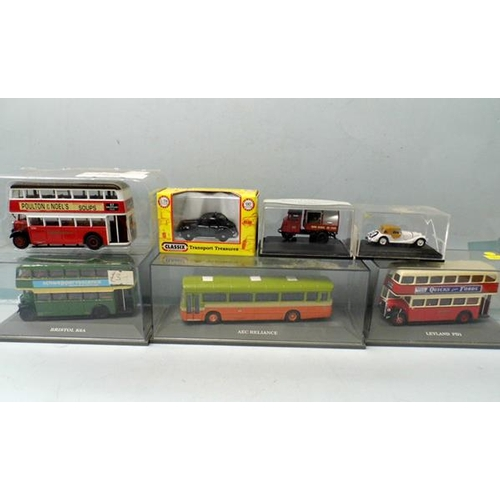 52 - Assortment of cased diecast buses & vehicles...