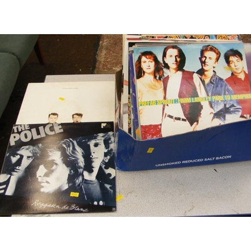 49 - Box of LPs, incl. Prefab Sprout, Pet Shop boys, Police...