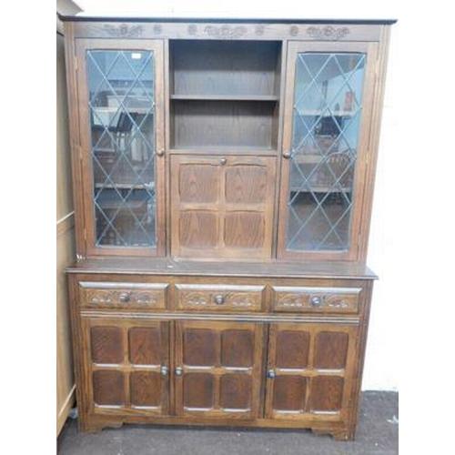 556 - Priory style oak dresser...