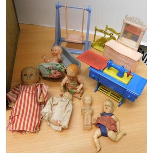 1 - Vintage dolls house with contents...