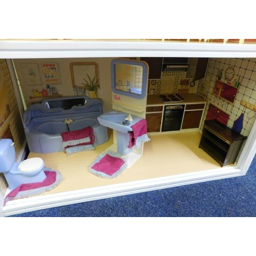 65 - Large quantity of vintage Sindy items within house, includes furniture, clothing, pony, car and orig...