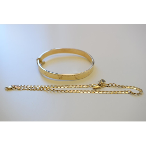 Curb Chain 9Ct Yellow Gold Hallmarked 3 3G Gold Bracelet