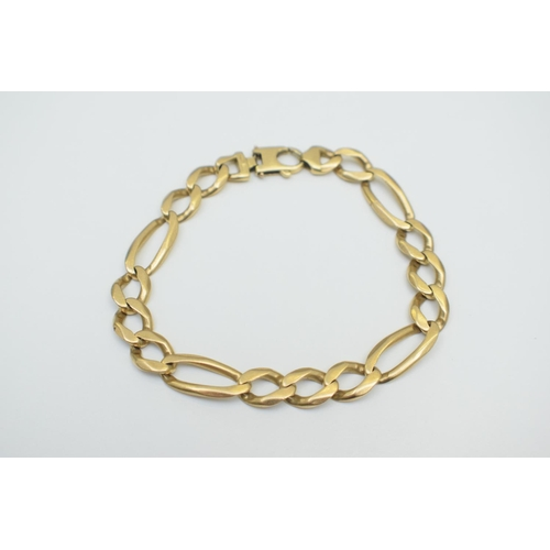 23 - Gold Figaro Bracelet 18Ct Yellow Gold Non-hallmarked . Total Weight 41.30g...