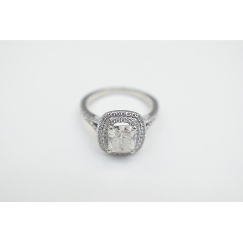 41 - Ring 87 Diamonds 2.48Carat Weight PT950 Hallmarked 7.4G. Total Weight 7.40g...