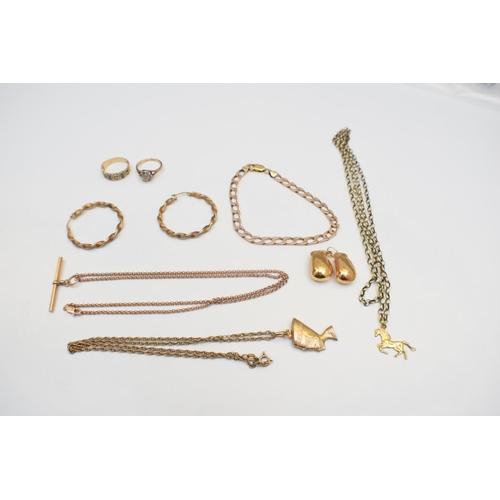47 - Chain 9Ct Yellow Gold Hallmarked 7.5G Chain 9Ct Yellow Gold Hallmarked 5.79G Ladies Ring 9Ct Yellow ...
