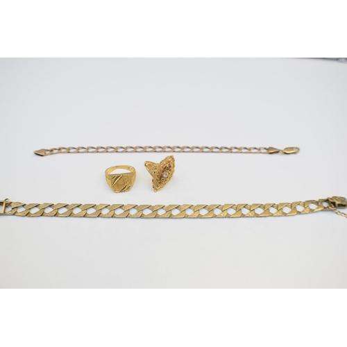 61 - Gold Curb Bracelet 9Ct Yellow Gold Hallmarked 17.4g Gold Curb Bracelet 9Ct Yellow Gold Hallmarked 7....