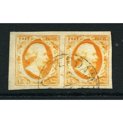 24 - nr.3 oranje in paar pos.41-42 cat.450 breedrandig pr.ex....