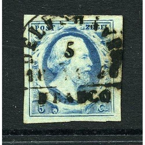 44 - Delfshaven-B (EY.300) op 5ct. blauw pl.II cat.130 pr.ex....