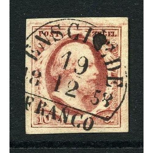 56 - Enschede-B (EY.50) op 10ct. pl.IV-9 cat.35 breedrandig pr.ex....
