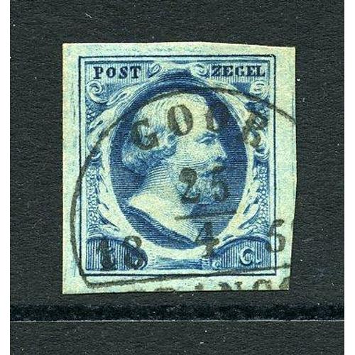 59 - Goor-B (EY.100) op 5ct. bijna zwartblauw pl.III-9 cat.45 breedrandig pr.ex....