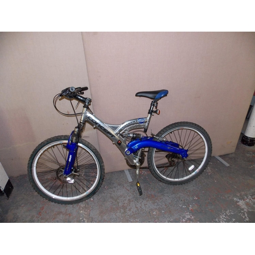 1 - A SILVER SAXON CONCEPT DUAL SUSPENSION MOUNTAIN BIKE WITH ALUMINIUM FRAME, FRONT DISC BRAKE AND 21 S...