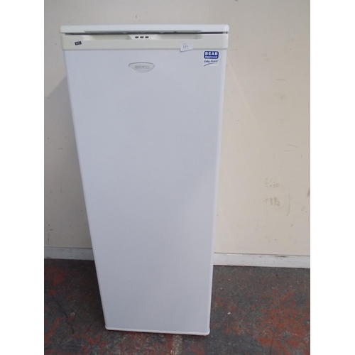 113 - A BEKO UPRIGHT FREEZER W/O...