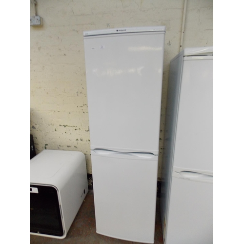 118 - A HOTPOINT ICE DIAMOND RFAA52 UPRIGHT FRIDGE FREEZER W/O...