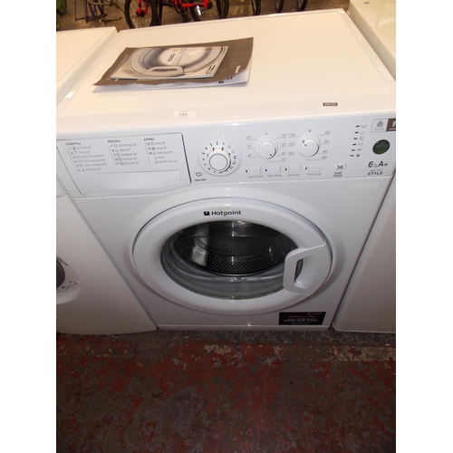 140 - A HOTPOINT STYLE MODEL WMYL6351 SIX KILO A-PLUS RATED WASHING MACHINE WITH INSTRUCTION MANUAL W/O...