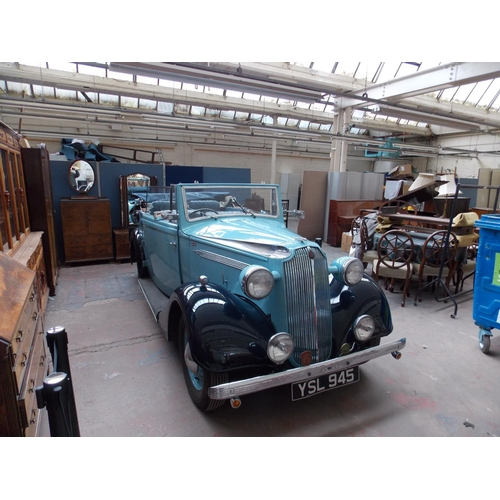 1198A - A 1937 VAUXHALL DX 14/6 SALMON TICKFORD...
