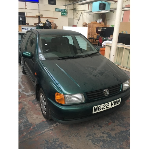 37 - A 1995 VW POLO GL MET GREEN FIVE DOOR HATCHBACK WITH 1.6GL PETROL FIVE SPEED MANUAL GEARBOX, 1598CC,...