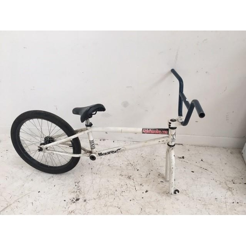 4 - TWO BMX BIKES FOR SPARES AND REPAIRS, ONE BLACK VOODOO AND ONE WHITE ALPHA...
