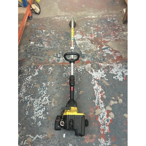 53 - A BLACK AND YELLOW ALKO MODEL FRS 250 PETROL GARDEN STRIMMER (W/O)...