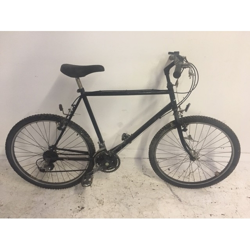 4 - TWO GENTS MOUNTAIN BIKES TO INCLUDE A BLACK EAGLE WITH EIGHTEEN SPEED SHIMANO GEAR SYSTEM AND A BLAC...