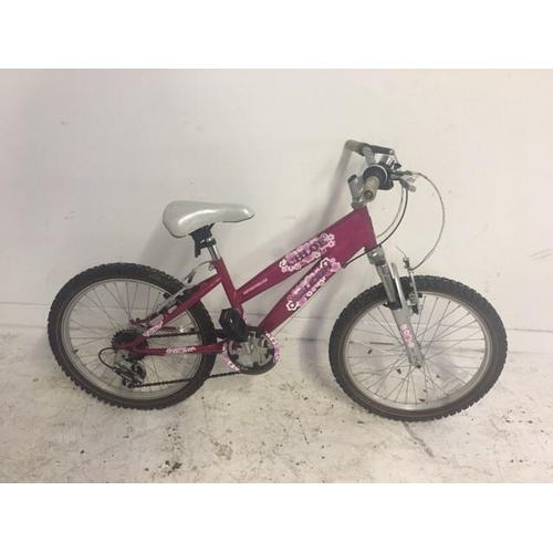 5 - TWO ITEMS TO INCLUDE A PINK RALEIGH CHLOE GIRLS MOUNTAIN BIKE WITH SIX SPEED SHIMANO GEAR SYSTEM AND...