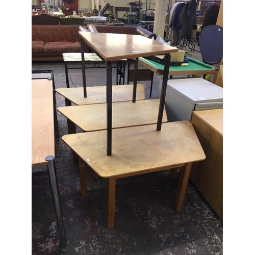 39 - TEN PRIMARY SCHOOL/NURSERY TABLES...