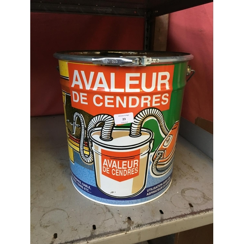 23 - AN AVALEUR DE CENDRES VACUUM CLEANER ASH FILTER (W/O)...
