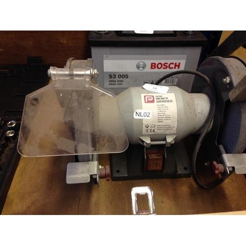 53 - A PERFORMANCE POWER TWIN WHEELED ELECTRIC BENCH GRINDER (Model  NLH150BG) W/O...