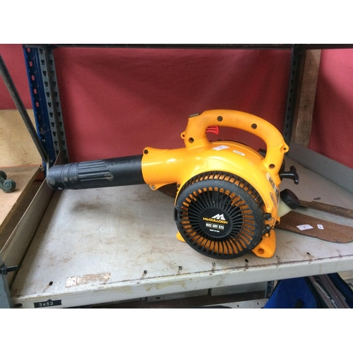 49 - A BLACK AND YELLOW MCCULLOCH PETROL LEAF BLOWER (Model GBV325)...