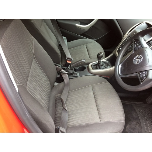 30 - A RED 2012 VAUXHALL ASTRA 1400CC PETROL 5 DOOR HATCHBACK, 108,497 MILES, TWO FORMER KEEPERS, MOT 03....