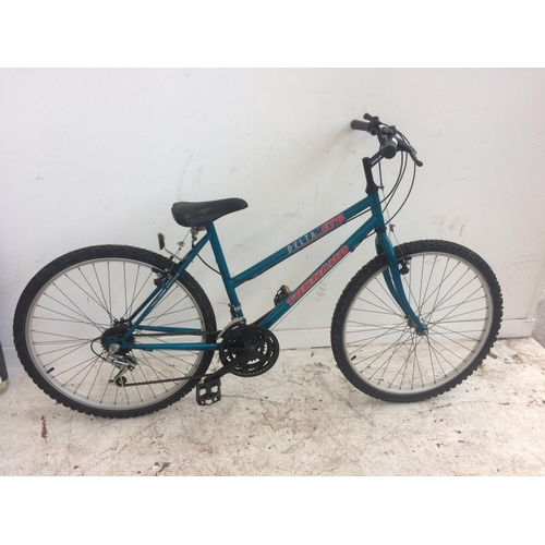 13 - A BLUE DELTA TORNADO LADIES MOUNTAIN BIKE WITH 18 SPEED SHIMANO GEAR SYSTEM...