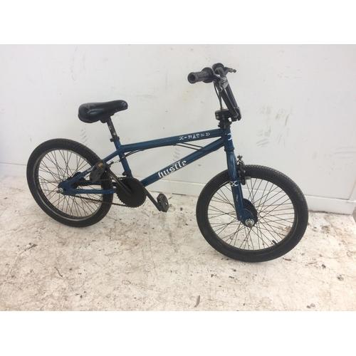 17 - A BLUE X-RATED HUSTLE BOYS BMX...