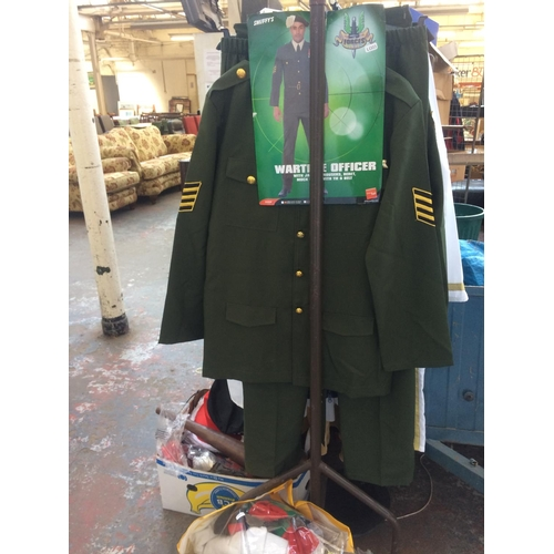 28 - A LARGE QUANTITY OF GOOD QUALITY FANCY DRESS COSTUMES AND ACCESSORIES TO INCLUDE AUSTIN POWERS, ARMY...