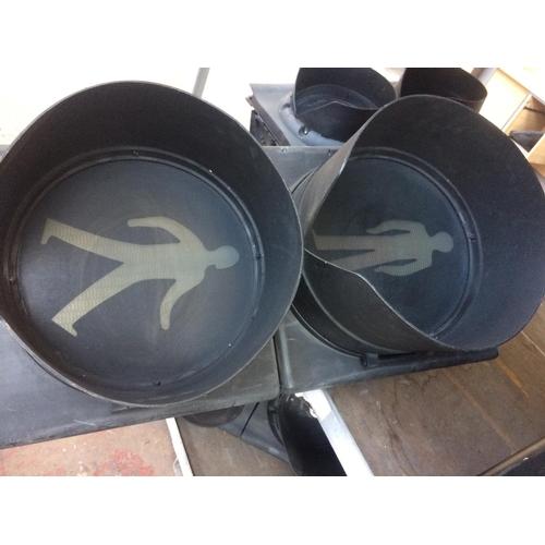 50 - A PEDESTRIAN CROSSING TRAFFIC LIGHT CONVERTED LAMP (W/O)...