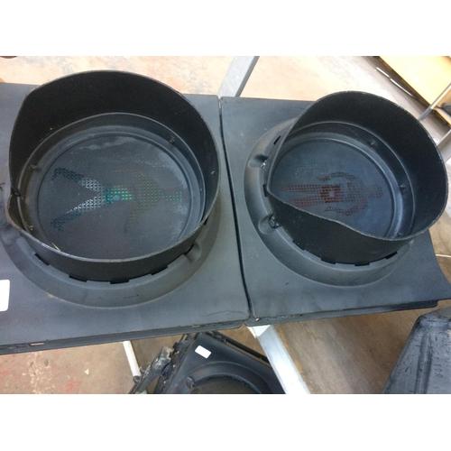 51 - A PEDESTRIAN CROSSING TRAFFIC LIGHT CONVERTED LAMP (W/O)...