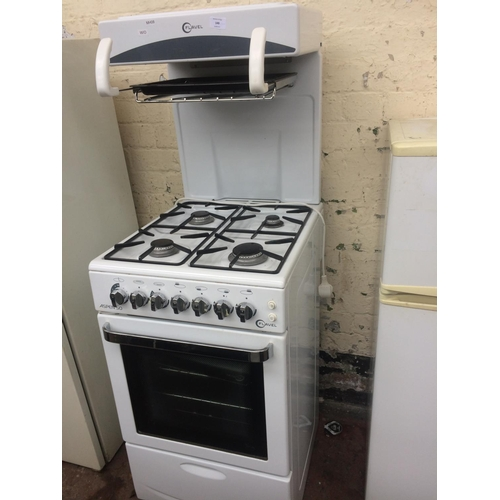 149 - A GREY AND WHITE FLAVEL ASPEN 50CM GAS COOKER WITH HIGH LEVEL GRILL...