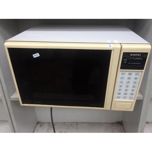 158 - A MATSUI 650 WATT MICROWAVE W/O...