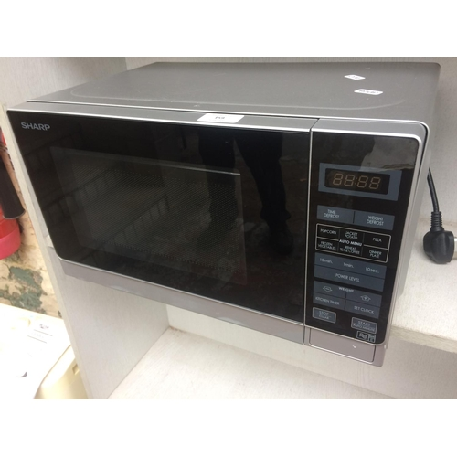 159 - A GREY SHARP 800W MICROWAVE (W/O)...